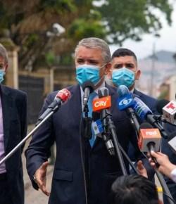 Colombiaanse regering en het Nationale Stakingscomité in gesprek