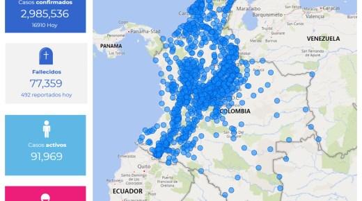 Coronacijfers van 8 mei: Colombia nadert 3 miljoen coronabesmettingen