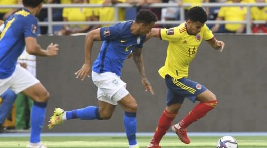 Colombia speelt gelijk tegen Brazilië en behoudt vijfde positie Zuid-Amerikaanse kwalificatiegroep