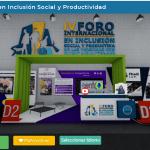 Imagen de la feria de servicios virtual en el Foro Internacional PCD
