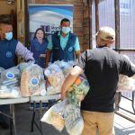 Familias vulnerables reciben ayuda de alimentos