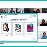Primera clase del grupo de personas con discapacidad auditiva del proyecto Emprendedores Sin Límites. Julio 2021