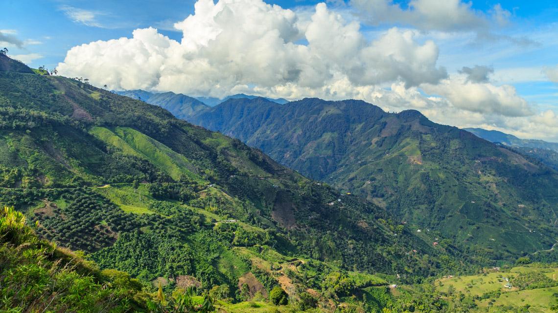 Andes Gebergte reis door Colombia