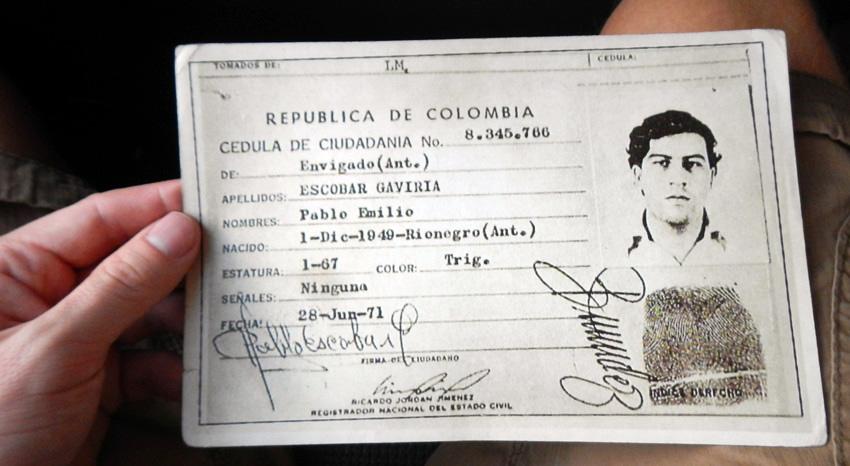 Rijbewijs Pablo Escobar