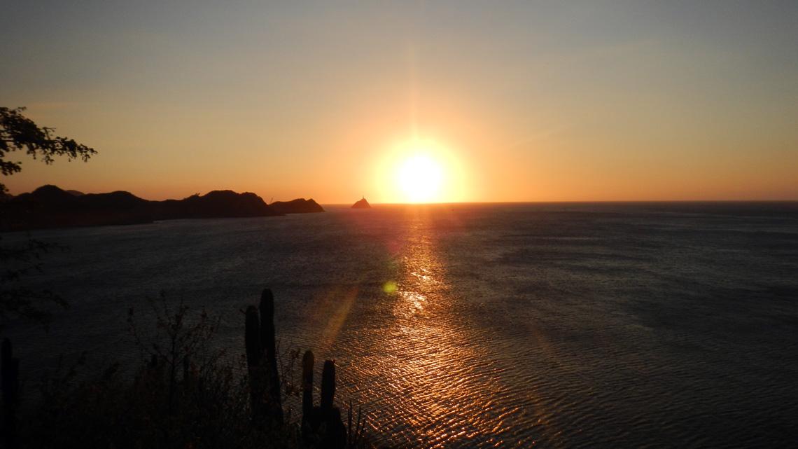 Zonsondergang in Taganga