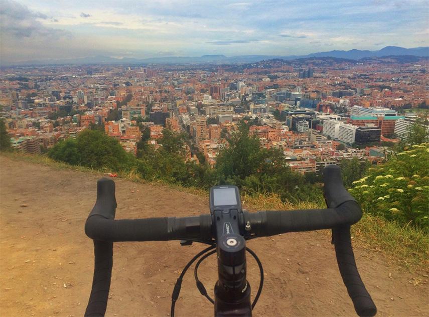 Uitzicht fiets Bogotá