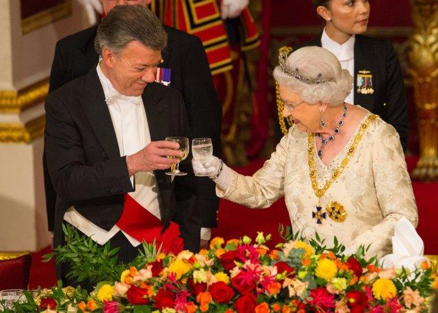 Президент Колумбии в Букингенском дворце