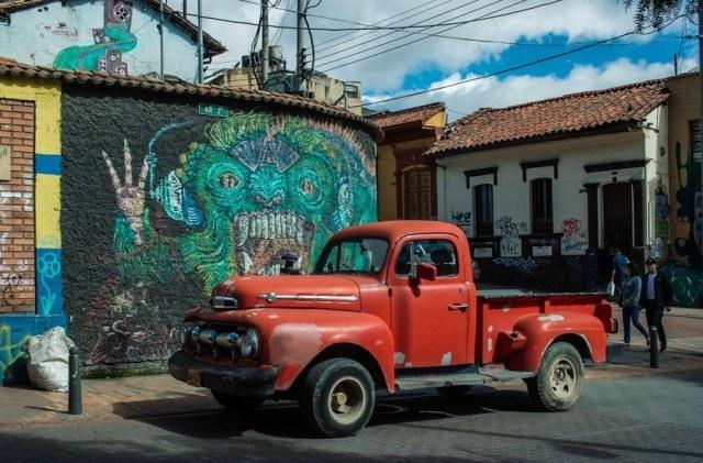 Уличное искусство в Боготе
