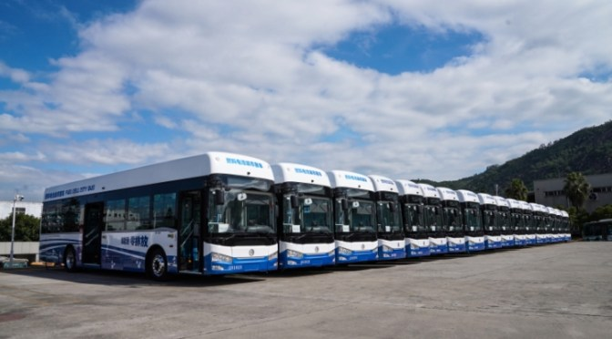 GOLDEN DRAGON VENDIÓ 288 BUSES CON CELDA DE COMBUSTIBLE EN 2020