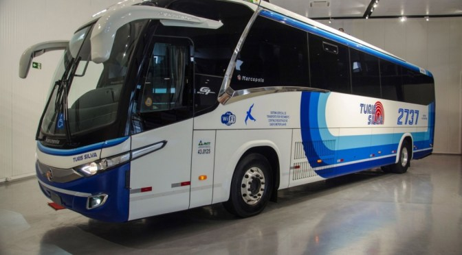 SCANIA AND MARCOPOLO LAUNCH THE FIRST GAS ENGINE ROAD BUS IN BRAZIL