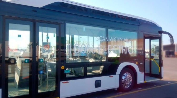SCANIA VOLT CHASSIS ARRIVES IN MEXICO ON INTEGRAL BUS FOR TESTS AND DEMONSTRATIONS