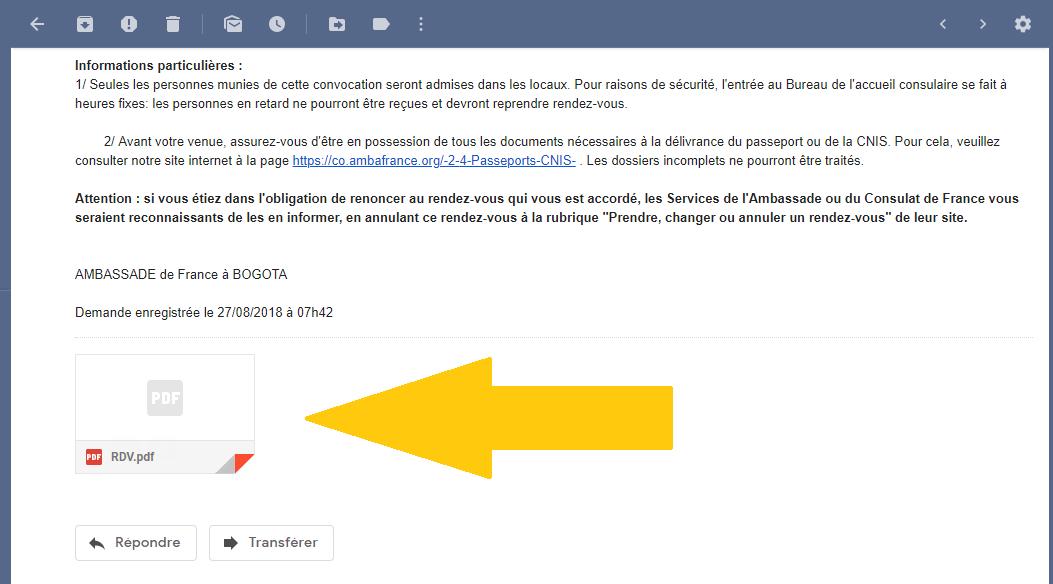 PDF passeport francais colombie