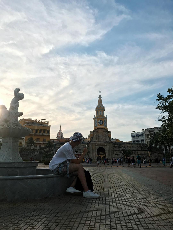 Horloge entrée de Cartagena de Indias