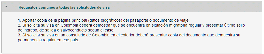 documents à produire demande de visa colombien