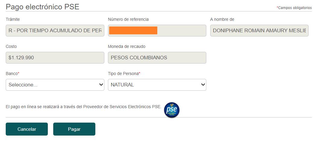 Coût visa R résidence permanente en Colombie