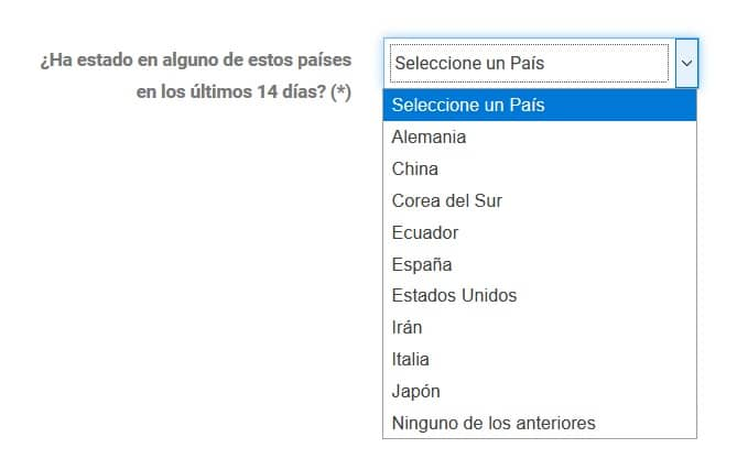 coronavirus en Colombie procédure en ligne