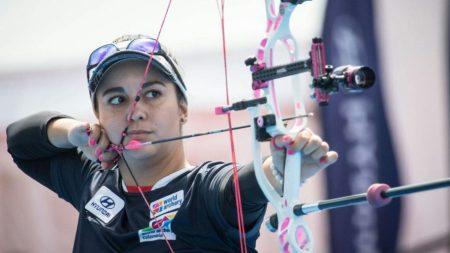 Sara Lopez tiro con arco colombiano indignado