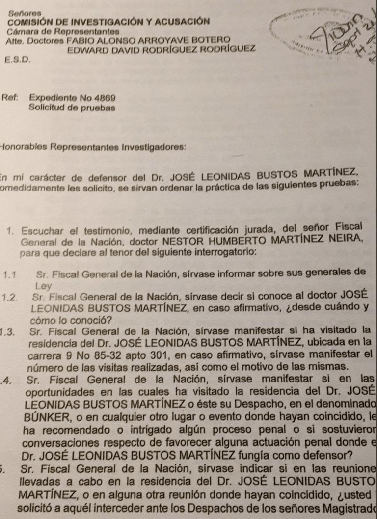 interrogatorio leonidas bustos nestor humberto martinez penal