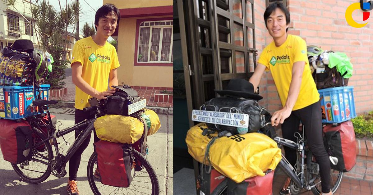 Recorrió medio mundo en bicicleta, llegó a Bogotá y se la robaron