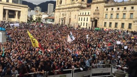 estudiantes plaza de bolivar lideres sociales