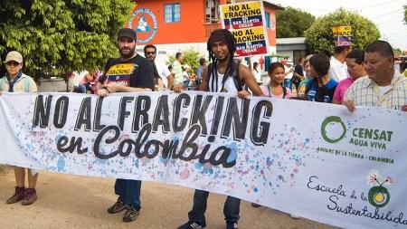 no al fracking colombia