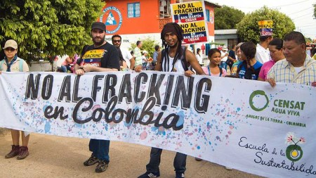 no al fracking colombia