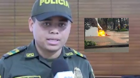 policia marchas fuego bogotá vándalos estudiantiles