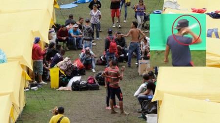 venezolanos guardia campamento bogotá