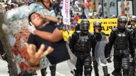 estudiante ojo esmad protestas colombia