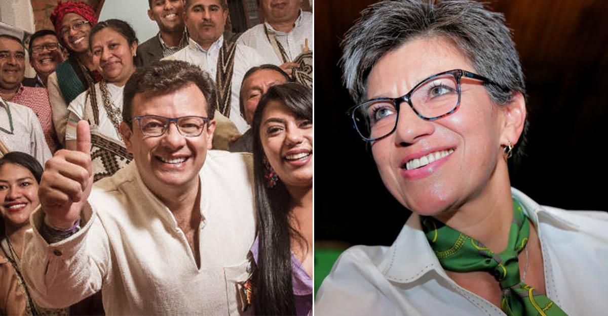 Hollman invitó a Claudia López a medirse en una consulta para alcaldía, y ella respondió