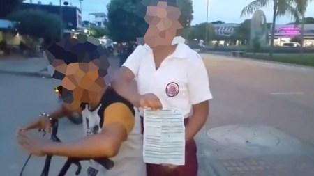 estudiante multa policia comparendo