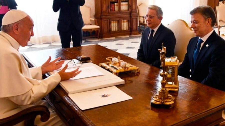 juan manuel santos alvaro uribe papa