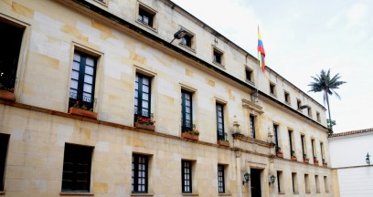 La fachada del Ministerio de Relaciones Exteriores, Bogota.