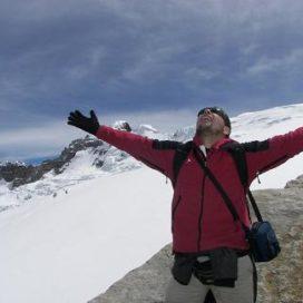 Traveler on the peak
