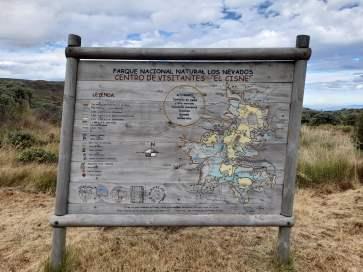 Letrero El Cisne - Parque Nacional Natural de los Nevados - Colombia Viajes