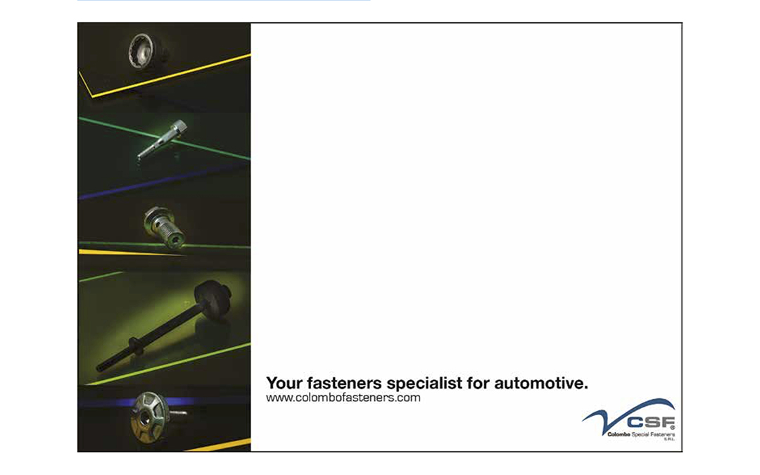 FASTENER + FIXING MAGAZINE: CSF – Your fasteners specialist for automotive | Novembre 2016