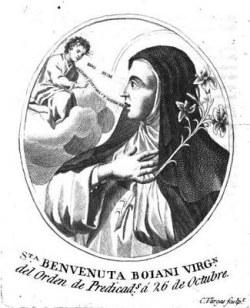 blažena Benvenuta Boiani - devica in redovnica