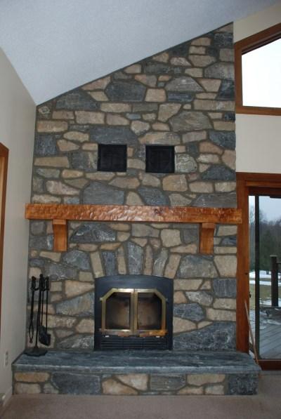 Elite Blue Granite Brown Blend Fireplace After