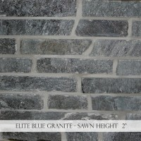 "Elite Blue Granite 2"" Sawn Height"