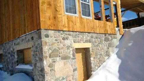 barn foundation feildstone rebuild
