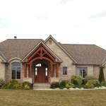 brown limestone ledgerock weathered house