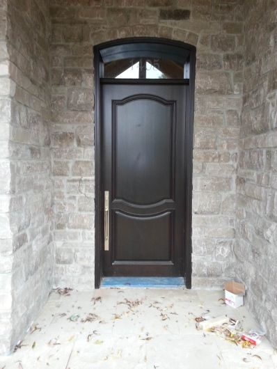 brown limestone tumbled ledgerock entrance