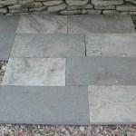 Charcoal Limestone Flamed Square Cut Flagstone
