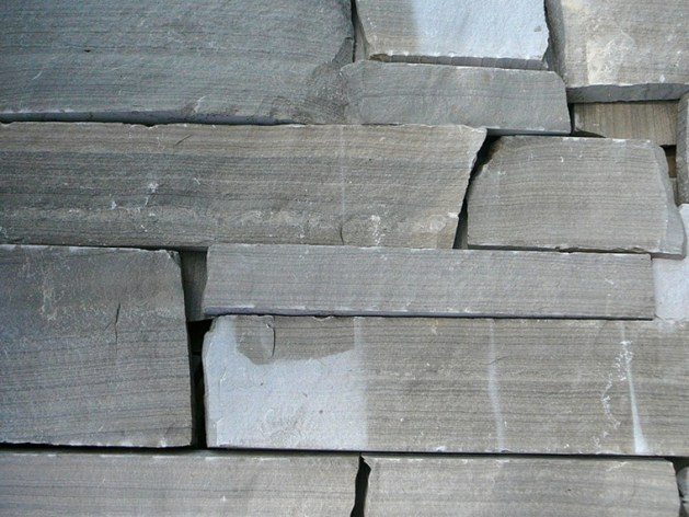 Charcoal Limestone Tigerstripe Drystack Sawn Height