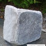 charcoal limestone tumbled random veneer corner