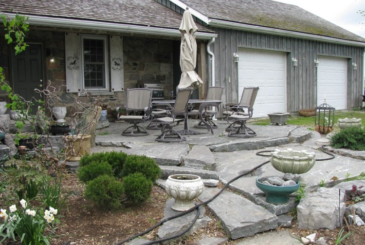 Elite Blue Granite Patio Landings & Steps