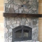 elite blue granite tumbled random fireplace