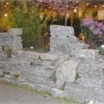 elite blue granite wall drystack