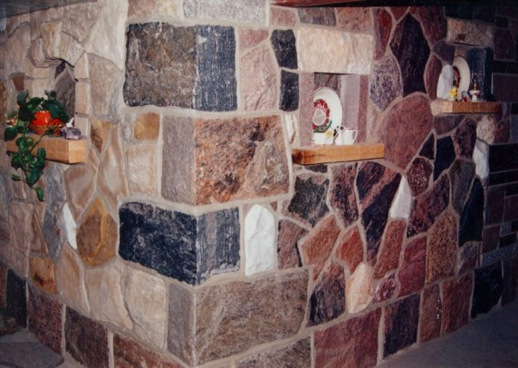 "Granite Full Thickness Building Stone ""L"" Shaped Corners"