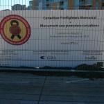 granite fire fighters memorial sign
